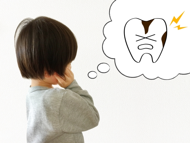 歯科検診_虫歯が気になる女の子