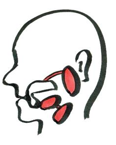 唾液腺(耳下腺・顎下腺・舌下腺)のイラスト