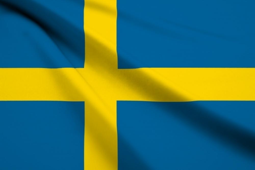 虫歯予防大国スウェーデンの国旗