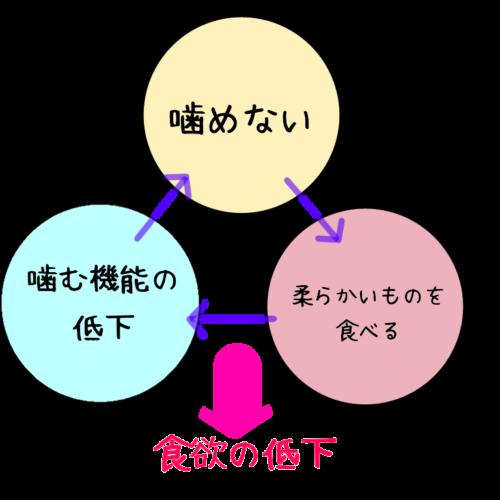 オーラルフレイル(お口の衰え)の説明図