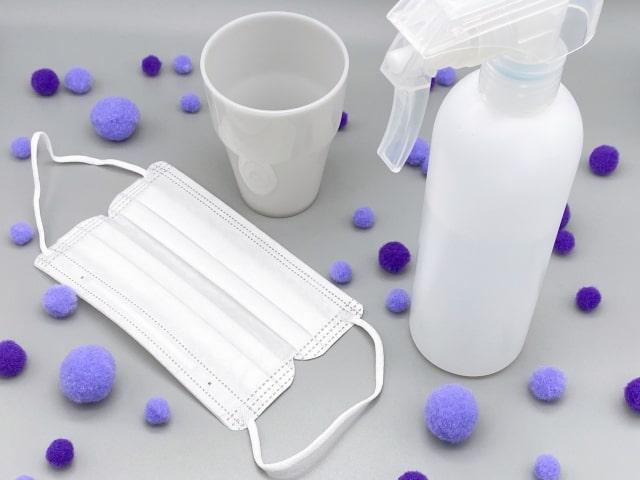 新型コロナウイルス予防のための消毒